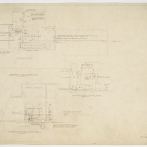 Boiler room plans and elevations