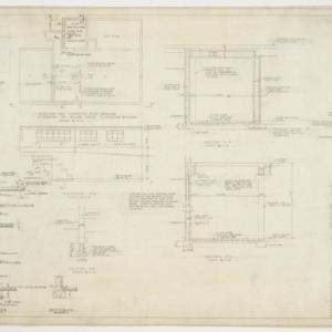 Boiler room foundation plan and sectional elevations