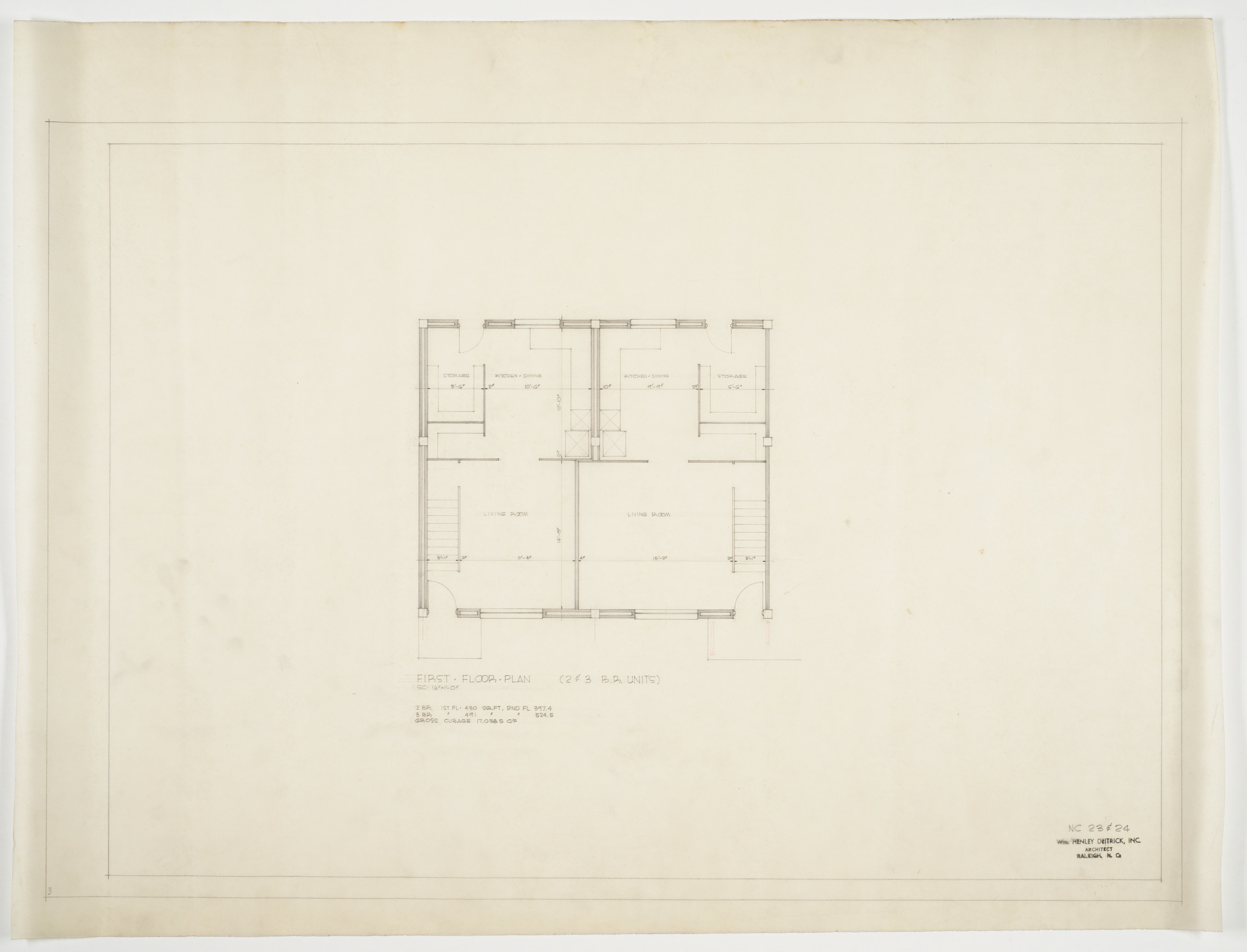 Two and three bedroom unit first floor plan chavis for 3 bedroom unit floor plans