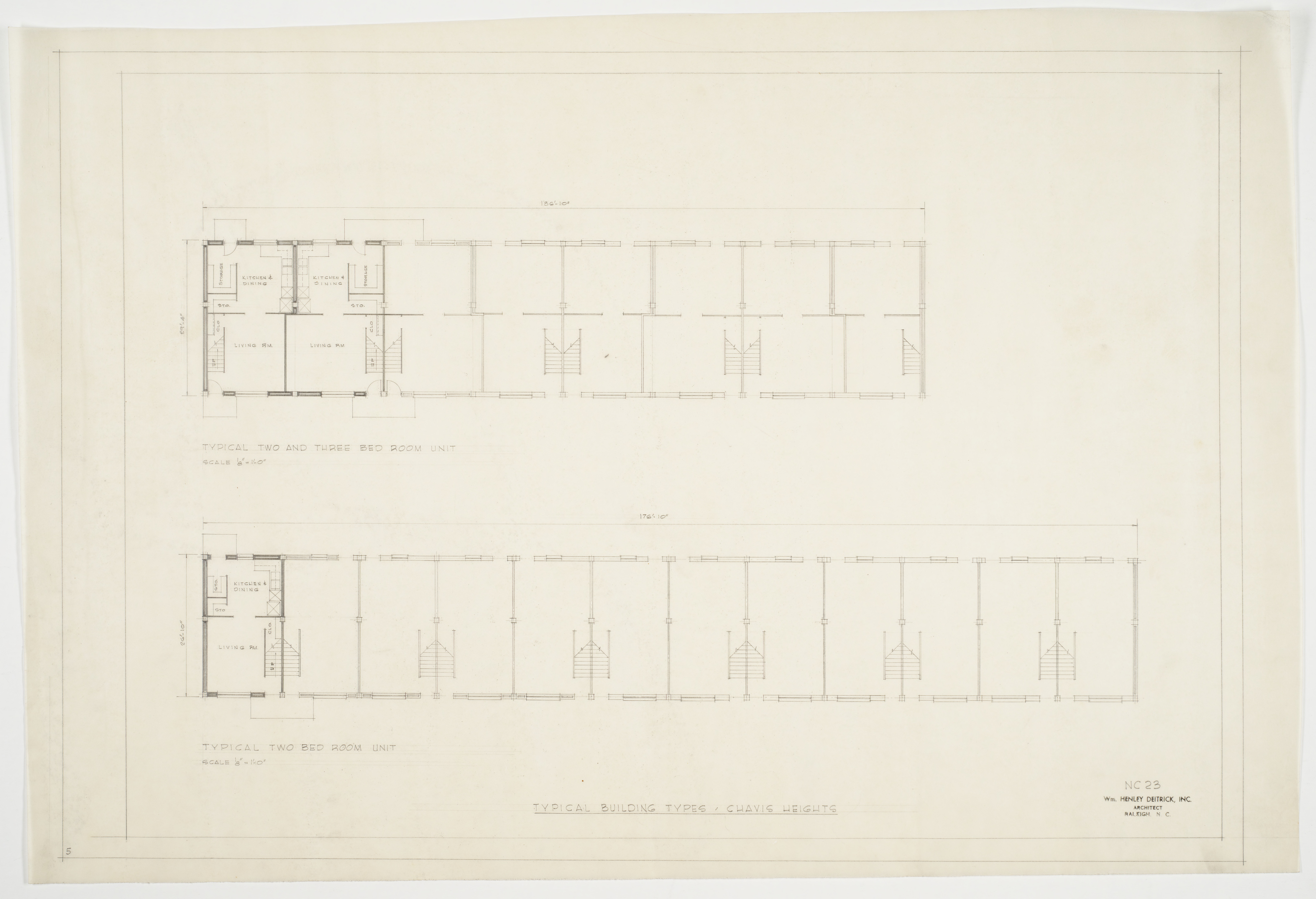 Typical two and three bedroom unit floor plans chavis for 3 bedroom unit floor plans