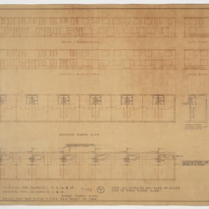 Elevations and plumbing plans building type 'Y'