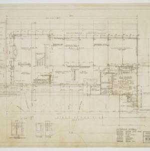 First floor plan, door elevations and schedule