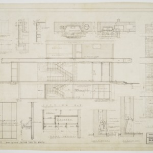 Elevations, fireplace elevations and wall sections