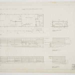 First floor plan and elevations