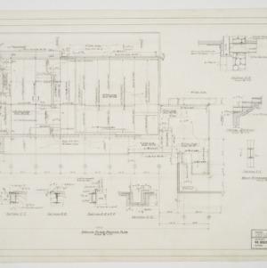 Ground floor framing plan and column details