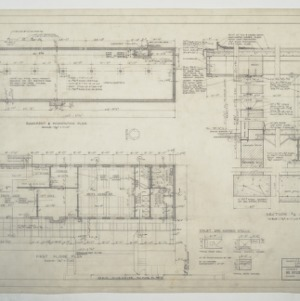 Carolina Country Club, Locker Building - Basement and First Floor Plans and Sections/Details