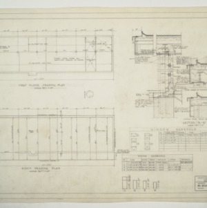 Carolina Country Club, Locker Building - Framing Plans, Sections and Schedules