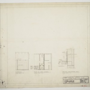 Carolina Country Club, Locker Building - Miscellaneous Sections and Details