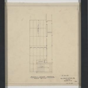 Carolina Country Club - Plan, Lower Terrace