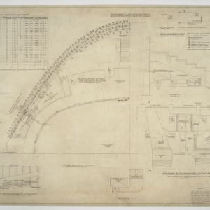 Floor plan and duct work plan and sections