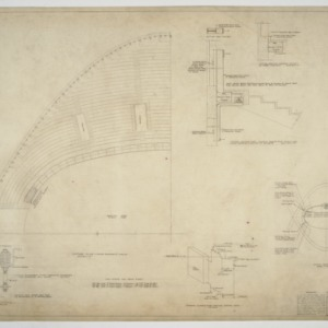 Seating floor plan and piping plan and section