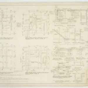 Boiler room framing and foundation plans