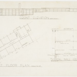 First Floor Plan; Front Elevation; Typical Wall Section