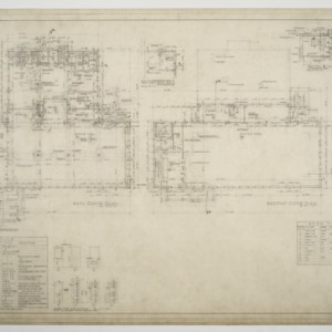 Dining Hall, Girls' and Boys' Dormitories - Dining Hall Plans