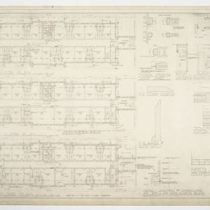 Dining Hall, Girls' and Boys ' Dormitory - Girls' Dormitory Floor Plans and Details