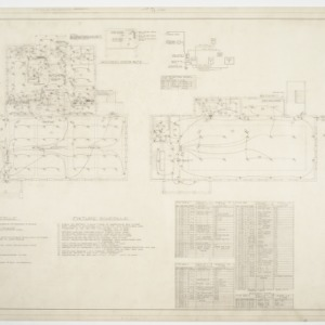 Dining Hall, Girls' and Boys' Dormitories - Dining Hall Floor Plans, Details and Diagrams