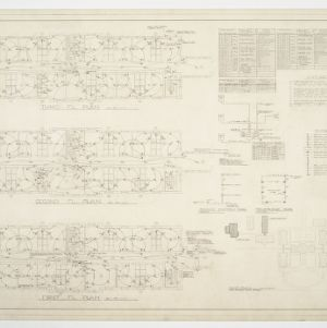 Dining Hall, Girls' and Boys' Dormitories - Girls' Dormitory Floor Plans, Details and Diagrams