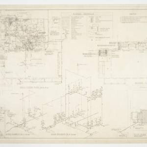 Floor plans, riser diagrams, site plan and schedule