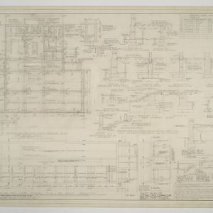 Foundation and framing plans and details for dining hall and girls dormitory