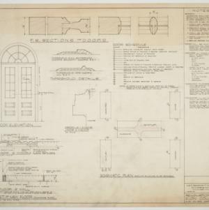Elon College, Renovations - Door details, floors, schematic plan, and notes