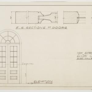 Elon College - Exterior door elevation and section