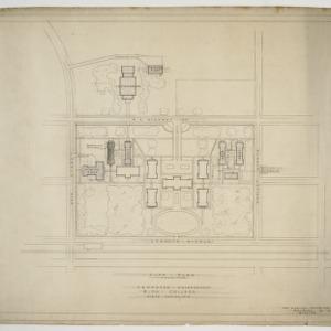 Elon College, Proposed Enlargement -- Site plan