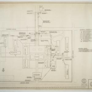 Elon College - Electrical distribution system plot plan