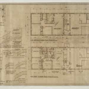 "Married Student Housing, University of North Carolina, Chapel Hill -- Floor Plan ""C"", Mailbox and Railing Details"