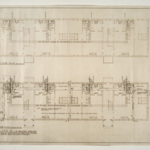 "Married Student Housing, University of North Carolina, Chapel Hill -- Plumbing Floor Plan, Building Type ""B"""