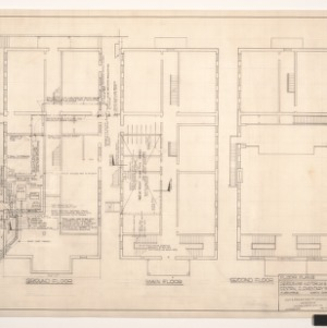 Central School, Demolishing Auditorium Building -- Floor Plans