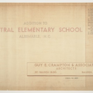 Central School, Addition to -- Index