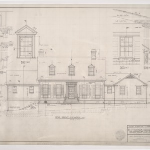 W. H. Thompson Residence -- Front Elevation and Dormer Details