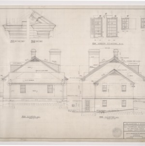 W. H. Thompson Residence -- End Elevations and Window Details