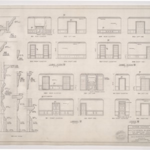 W. H. Thompson Residence -- Interior Elevations