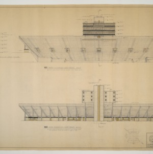 Wake Forest University, Wake Forest College Stadium -- Stadium Elevations