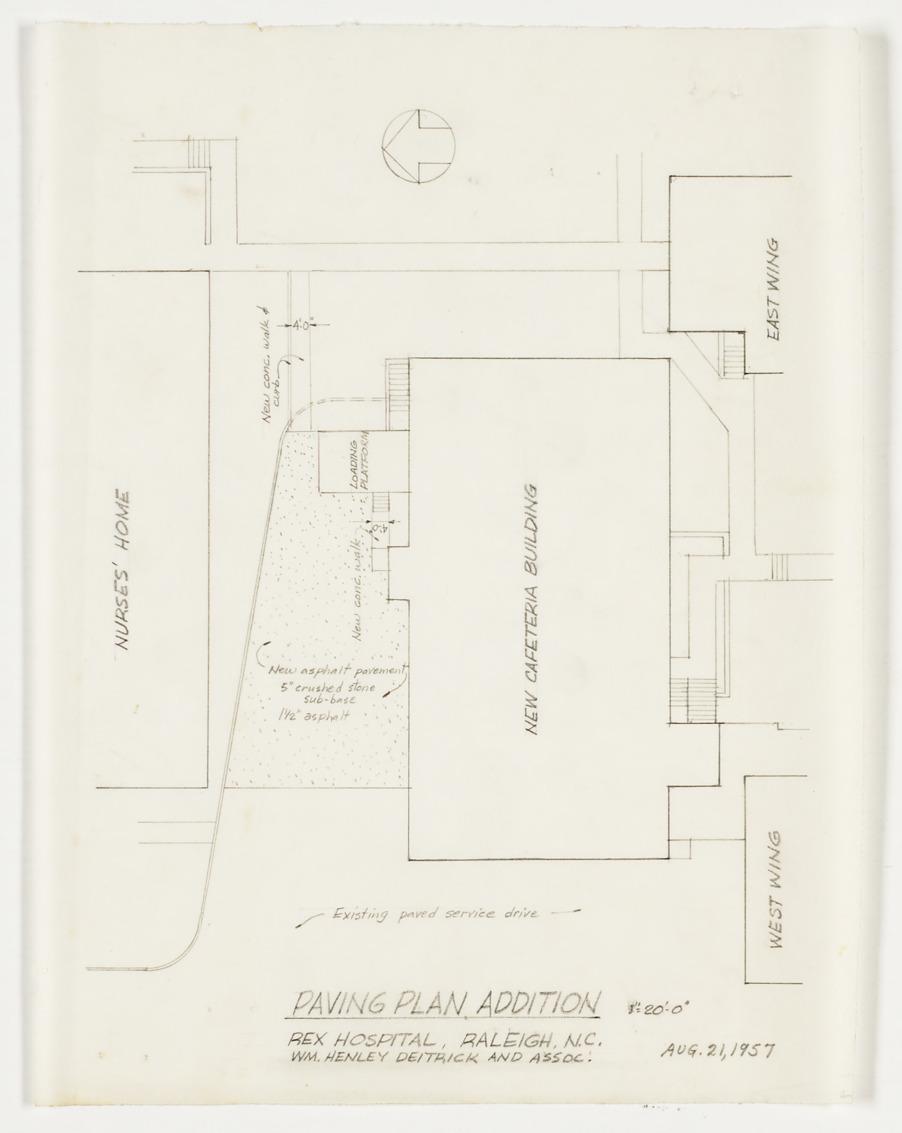 Paving plan addition rex hospital mc00227 003 ff0187 for Paving planner