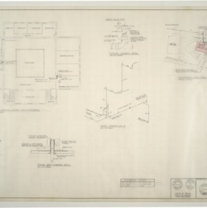 B.N. Duke Library Building, Classroom Addition and Alterations -- Plumbing Plot Plan and Details
