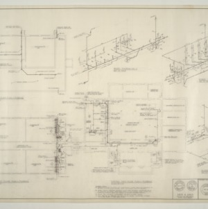 B.N. Duke Library Building, Classroom Addition and Alterations -- Plumbing Floor Plans and Riser Diagrams