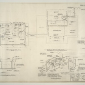 B.N. Duke Library Building, Classroom Addition and Alterations -- Floor Plans - Heating Boiler Hook-up