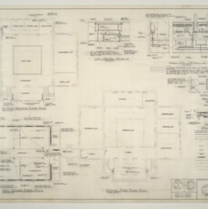 B.N. Duke Library Building, Classroom Addition and Alterations -- Floor Plans - Heating, Miscellaneous Details
