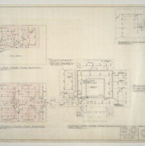 B.N. Duke Library Building, Classroom Addition and Alterations -- Floor Plans - Electrical