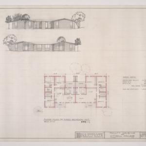 B.N. Duke Library, Faculty Housing -- Three Bedroom Unit Floor Plan