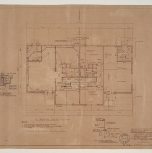 B.N. Duke Library, Faculty Housing -- Floor Plan, Electric and Heating Plan, Two Bedroom Duplex