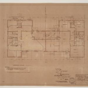 B.N. Duke Library, Faculty Housing -- Floor Plan, Electric and Heating Plan, Three Bedroom Duplex