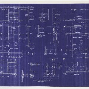 Framing plans, sectional elevations and floor plans