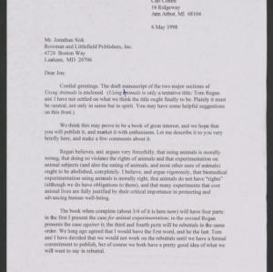 Animal Rights Debate: Correspondence, 1998