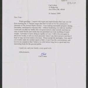 Animal Rights Debate: Correspondence, 1999