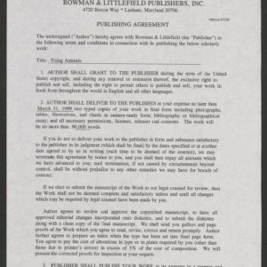 Animal Rights Debate: Contract, 1999-2000