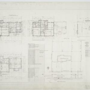 First floor plan, second floor plan, attic plan, basement plan, plot plan