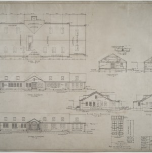 Roof plan, elevations, sections, White Children's Building